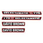 David Brown 770 Tractor Decal Set